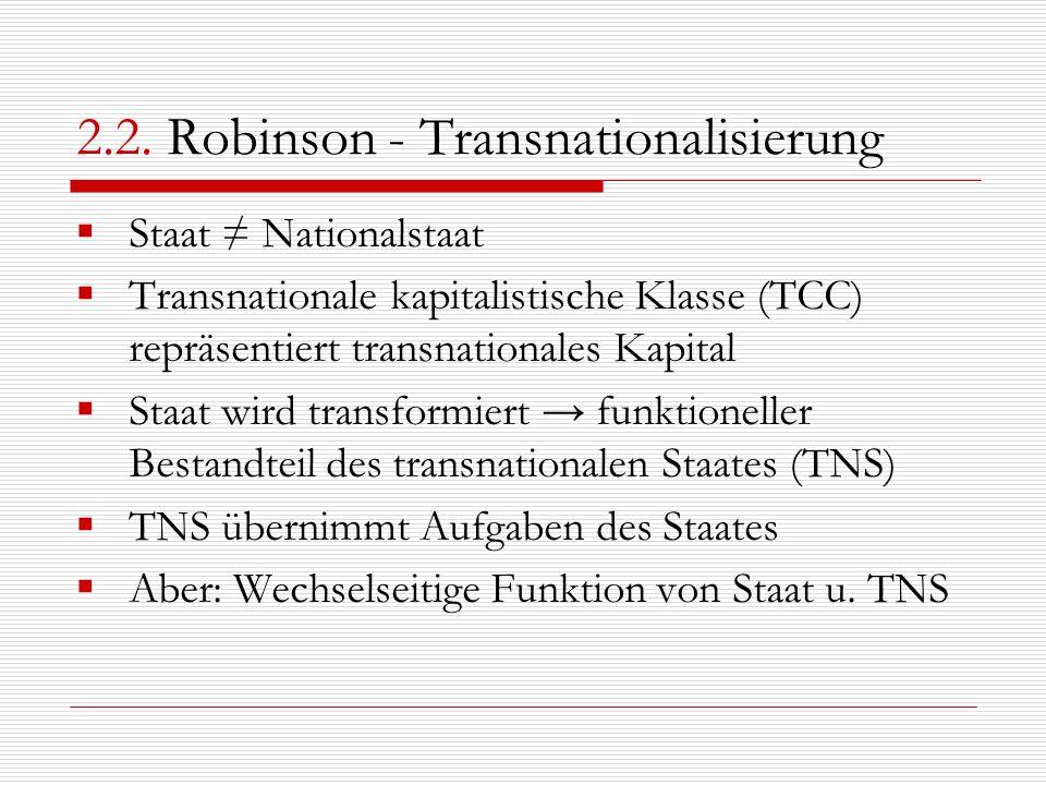 2.2. Robinson - Transnationalisierung
