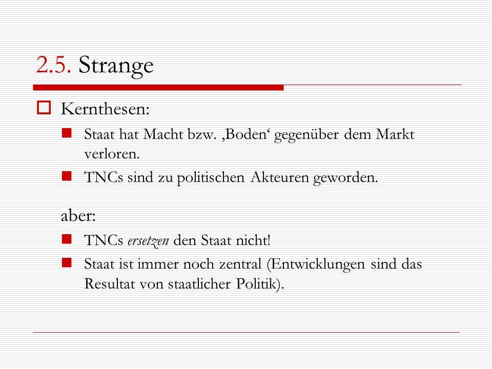 2.5. Strange Kernthesen: aber: