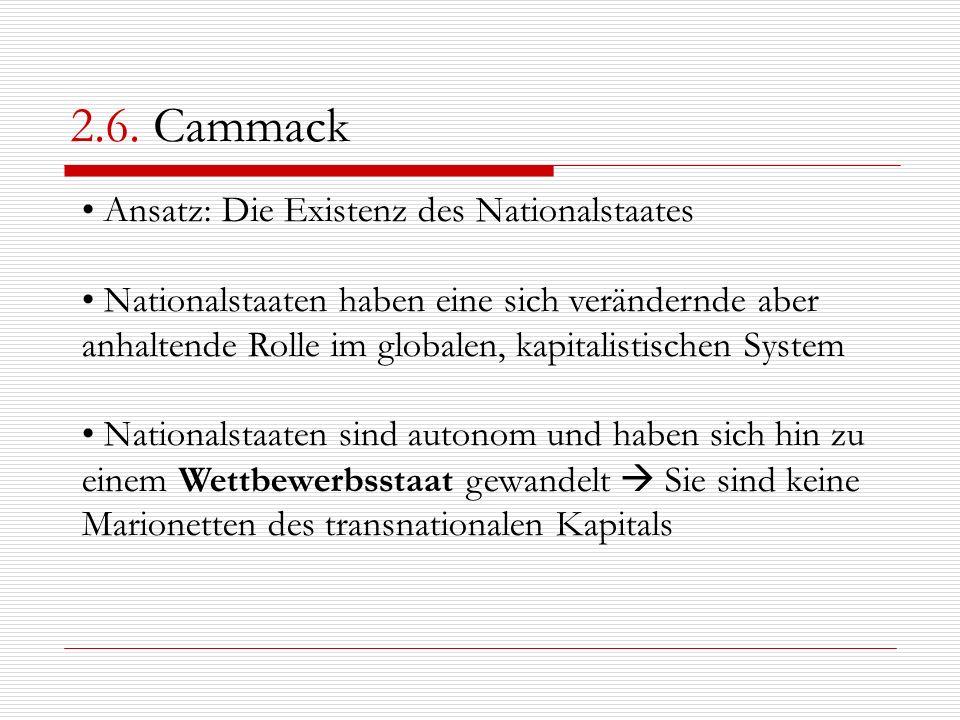 2.6. Cammack Ansatz: Die Existenz des Nationalstaates