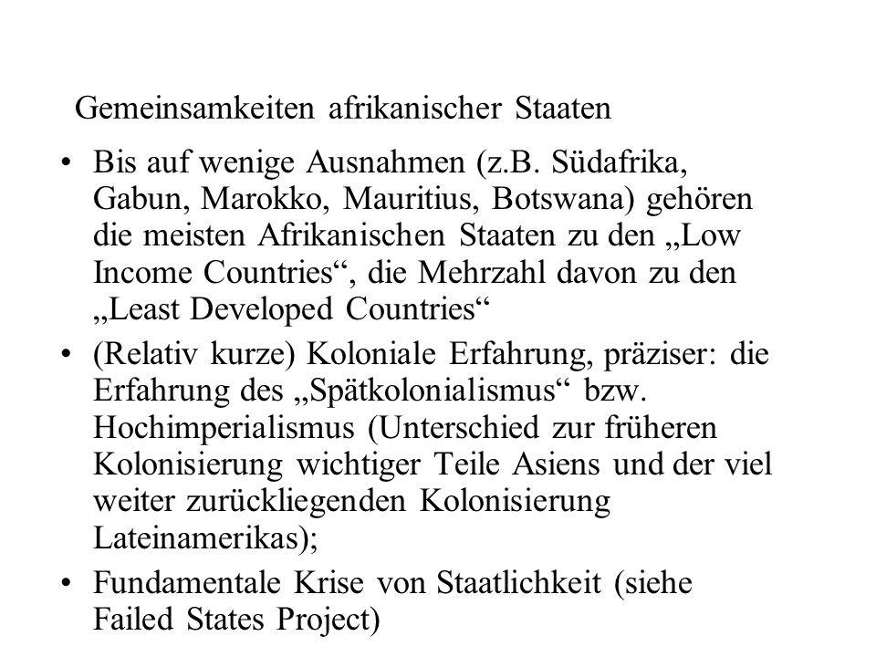 Gemeinsamkeiten afrikanischer Staaten