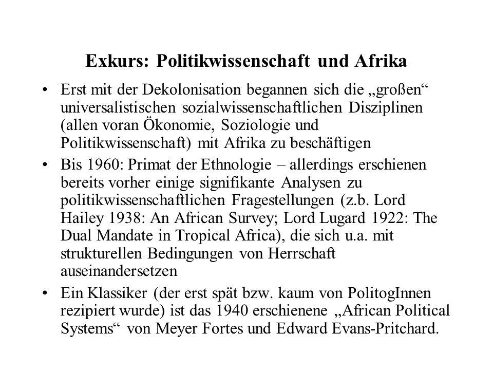 Exkurs: Politikwissenschaft und Afrika
