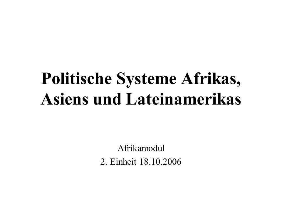 Politische Systeme Afrikas, Asiens und Lateinamerikas