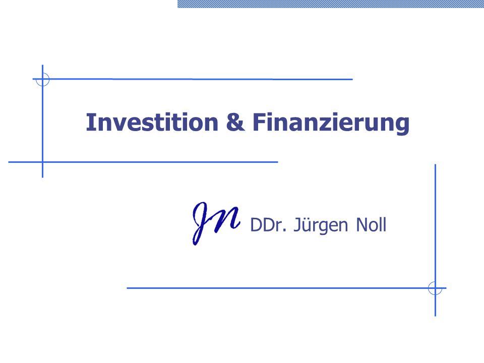 Investition & Finanzierung
