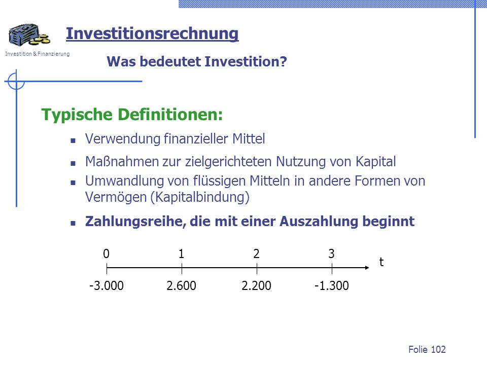 Was bedeutet Investition