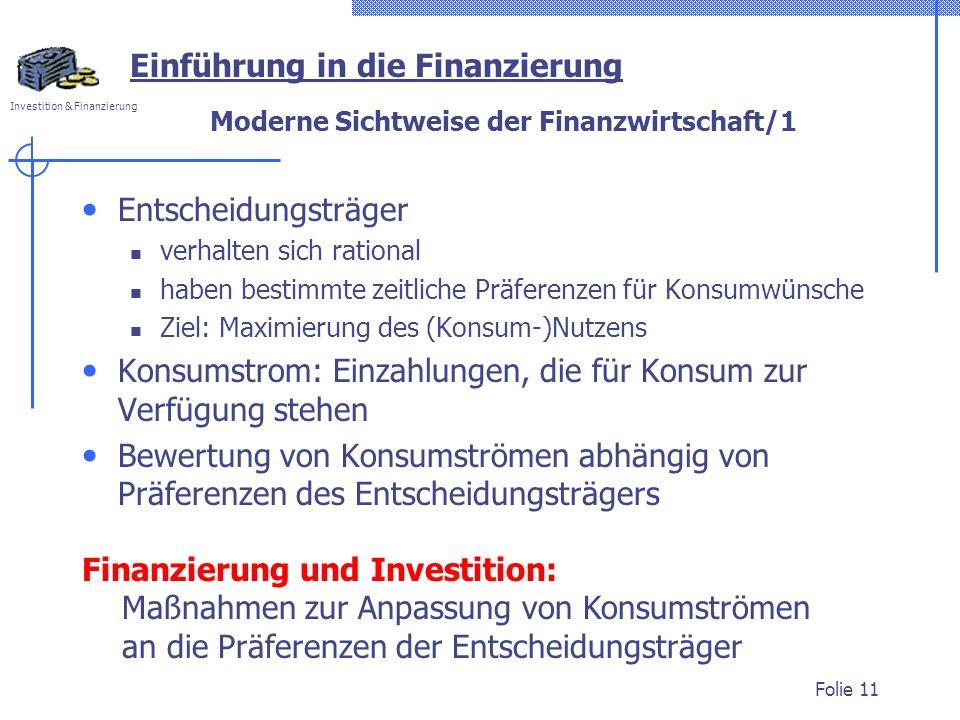 Moderne Sichtweise der Finanzwirtschaft/1