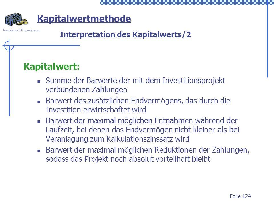 Interpretation des Kapitalwerts/2