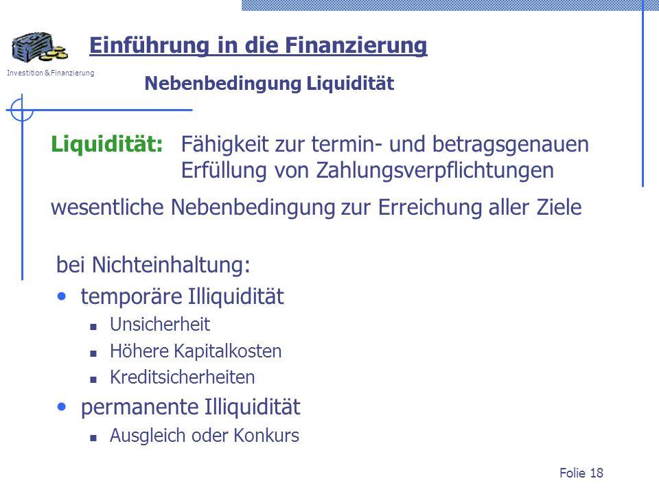 Nebenbedingung Liquidität