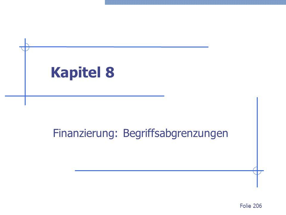 Finanzierung: Begriffsabgrenzungen