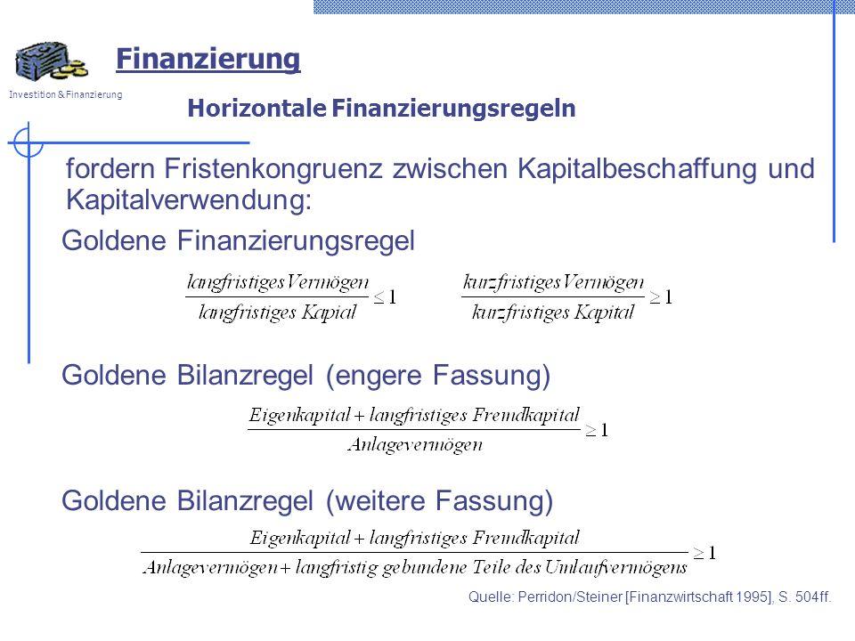 Horizontale Finanzierungsregeln