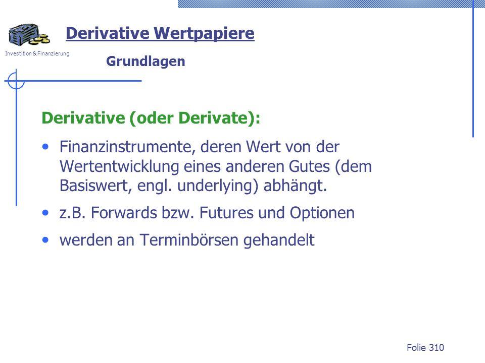 Derivative Wertpapiere