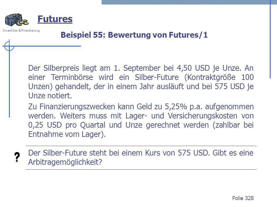 Beispiel 55: Bewertung von Futures/1