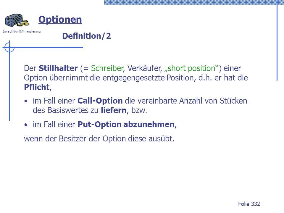 Optionen Definition/2.
