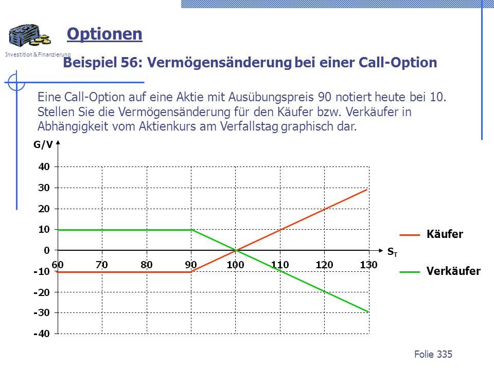 Beispiel 56: Vermögensänderung bei einer Call-Option