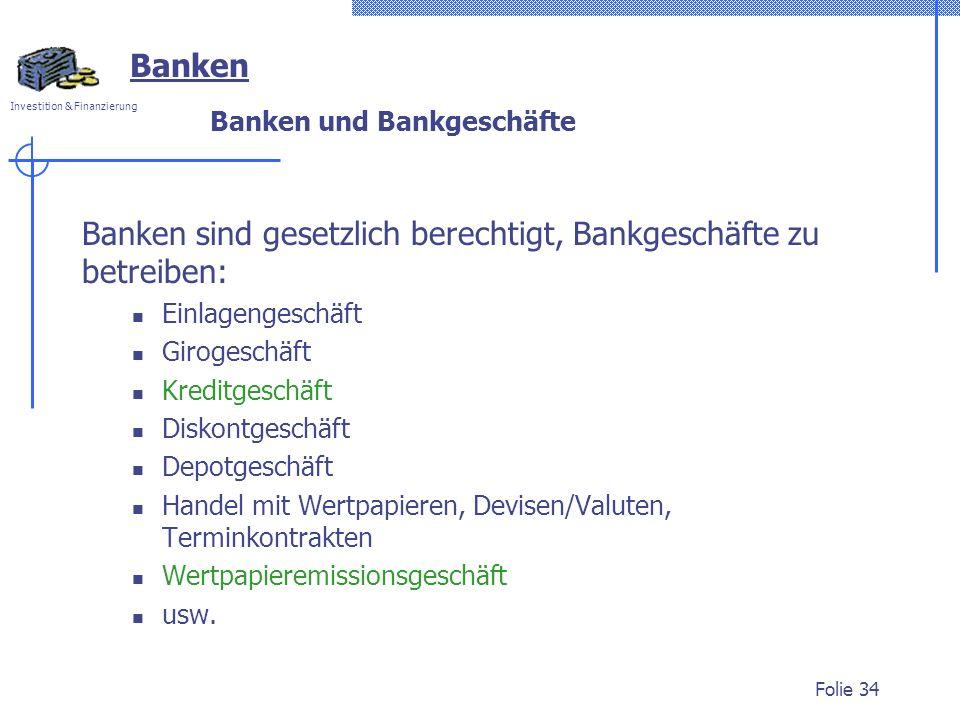 Banken und Bankgeschäfte