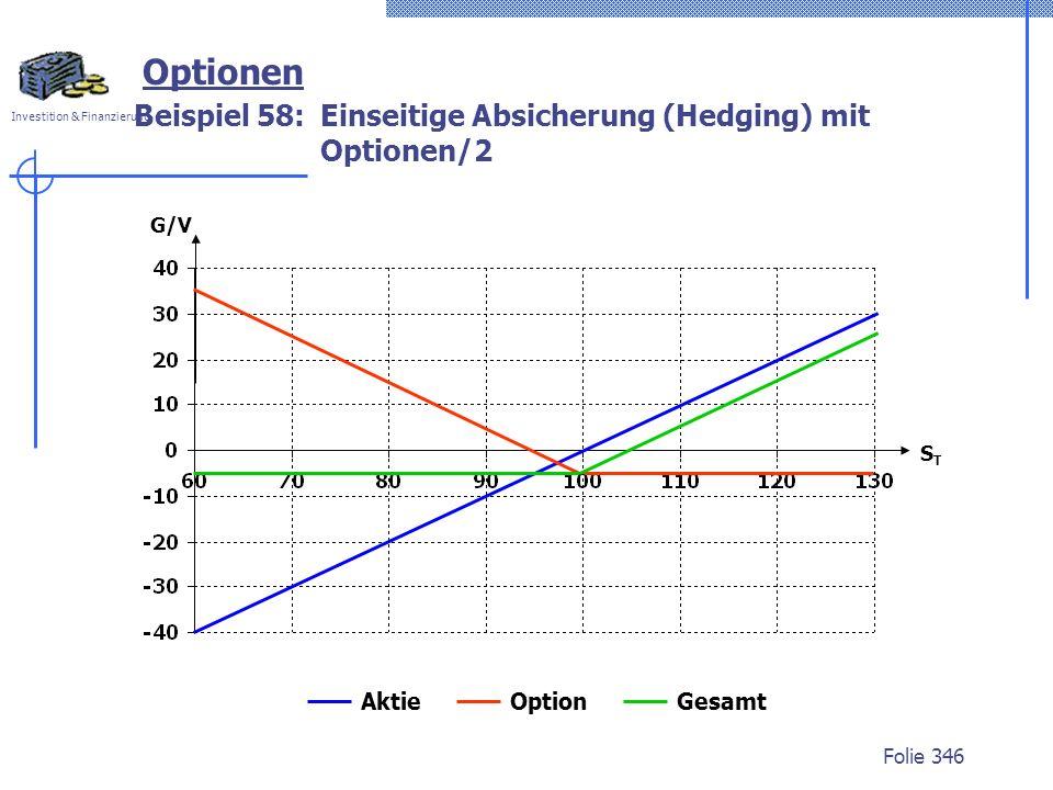 Beispiel 58: Einseitige Absicherung (Hedging) mit Optionen/2
