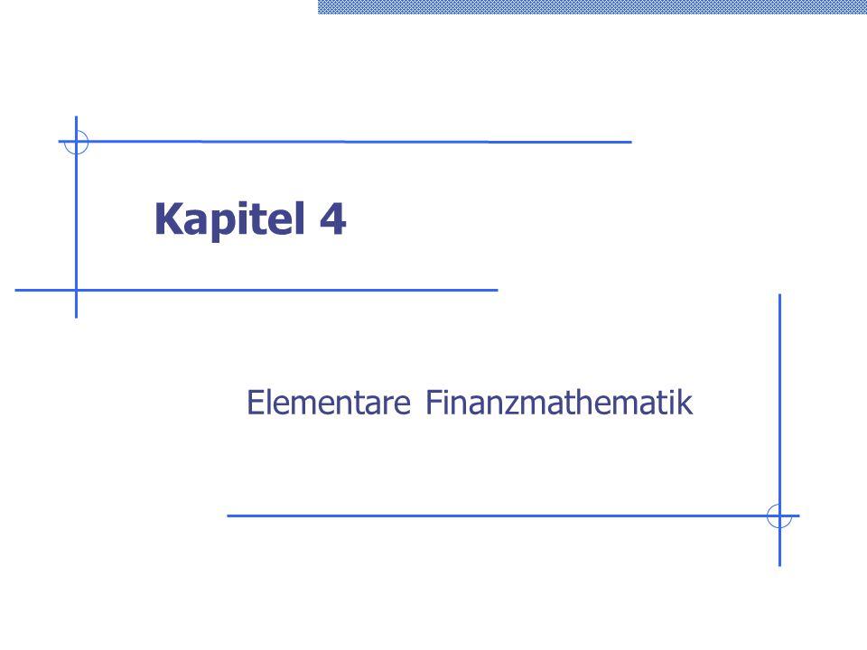 Elementare Finanzmathematik