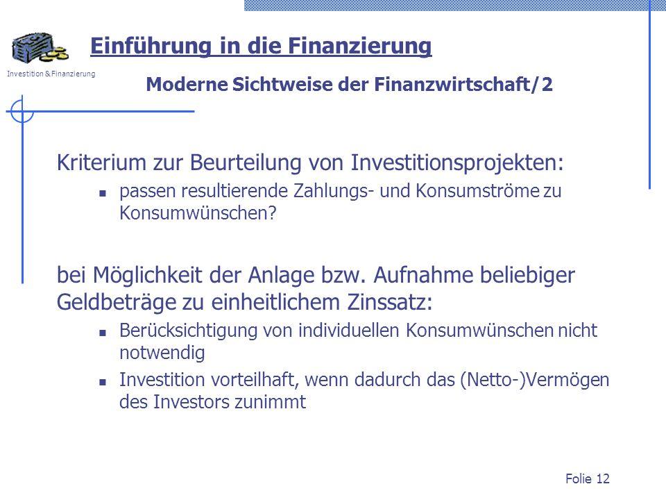 Moderne Sichtweise der Finanzwirtschaft/2