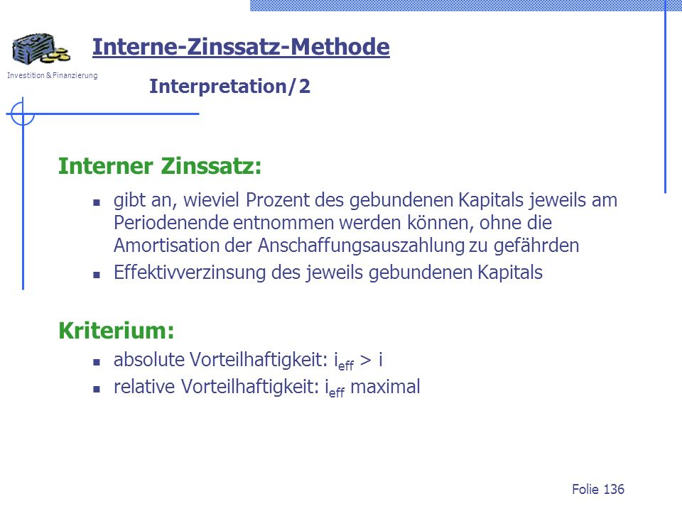 Interne-Zinssatz-Methode