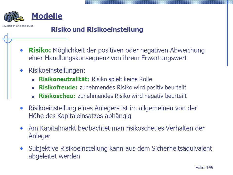 Risiko und Risikoeinstellung