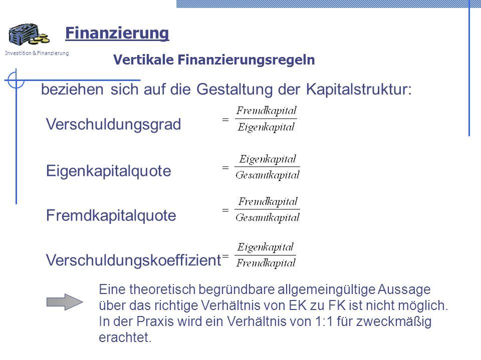 Vertikale Finanzierungsregeln