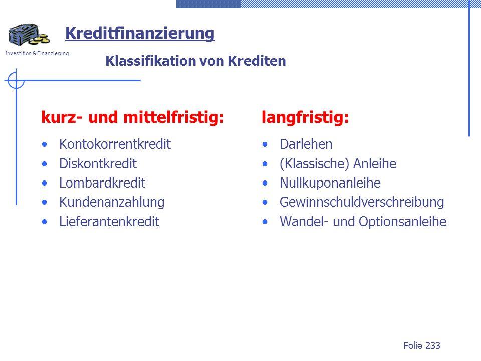 Klassifikation von Krediten