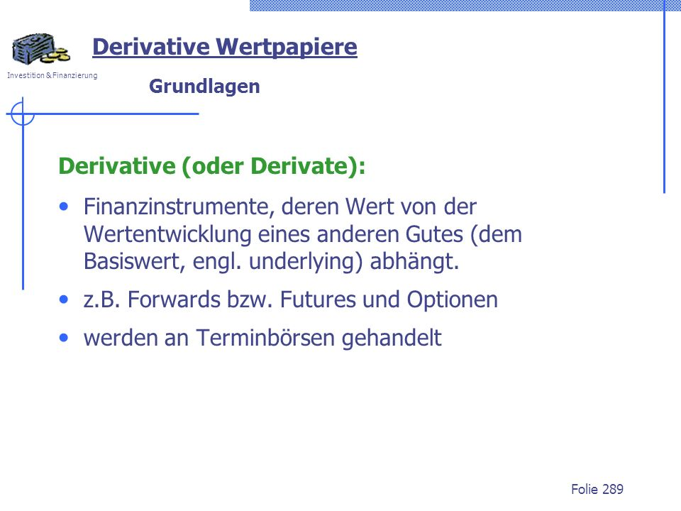 Derivative Wertpapiere