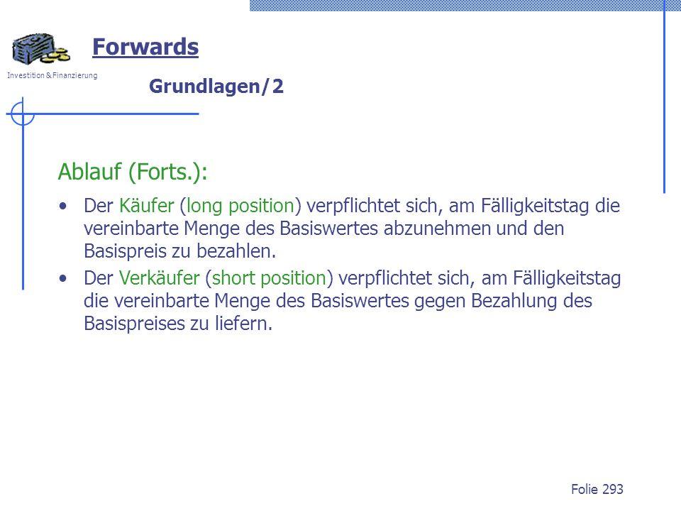 Forwards Ablauf (Forts.): Grundlagen/2