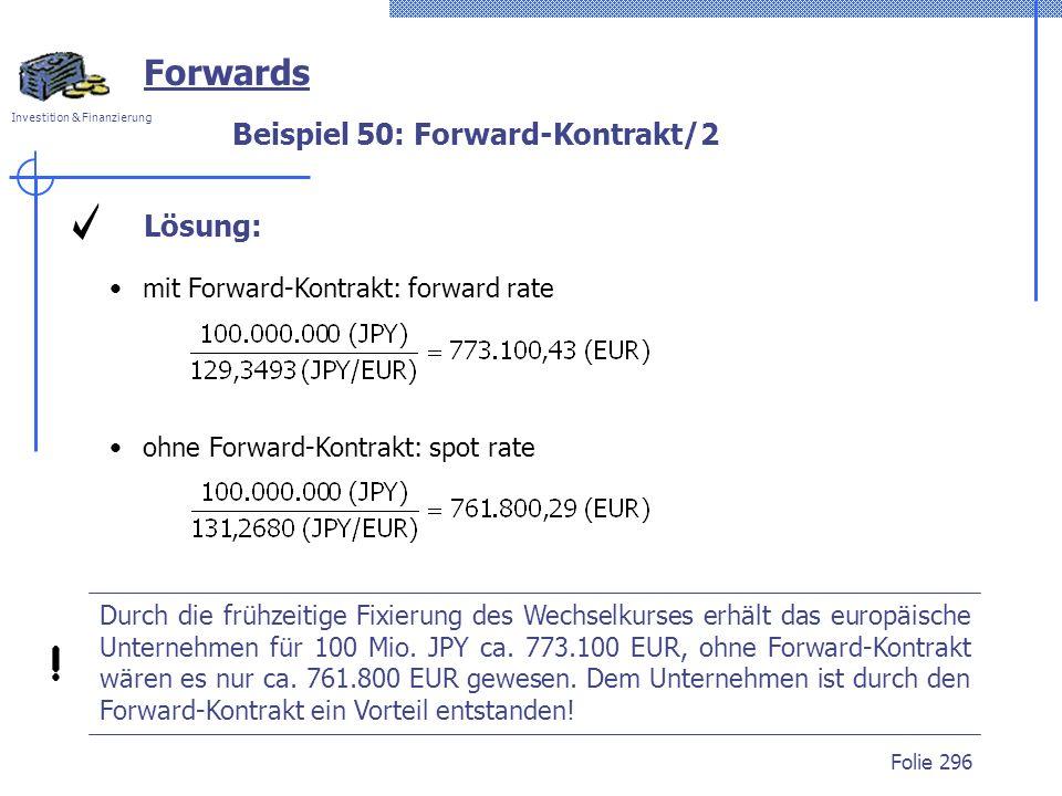 Beispiel 50: Forward-Kontrakt/2