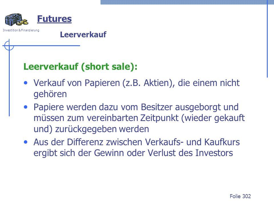 Leerverkauf (short sale):