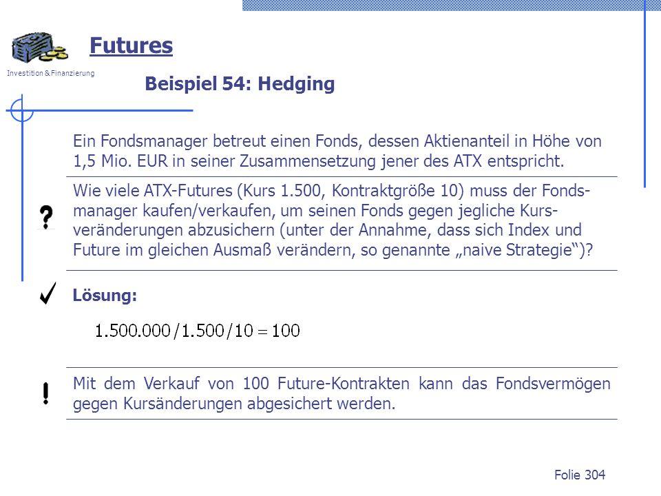 Futures Beispiel 54: Hedging