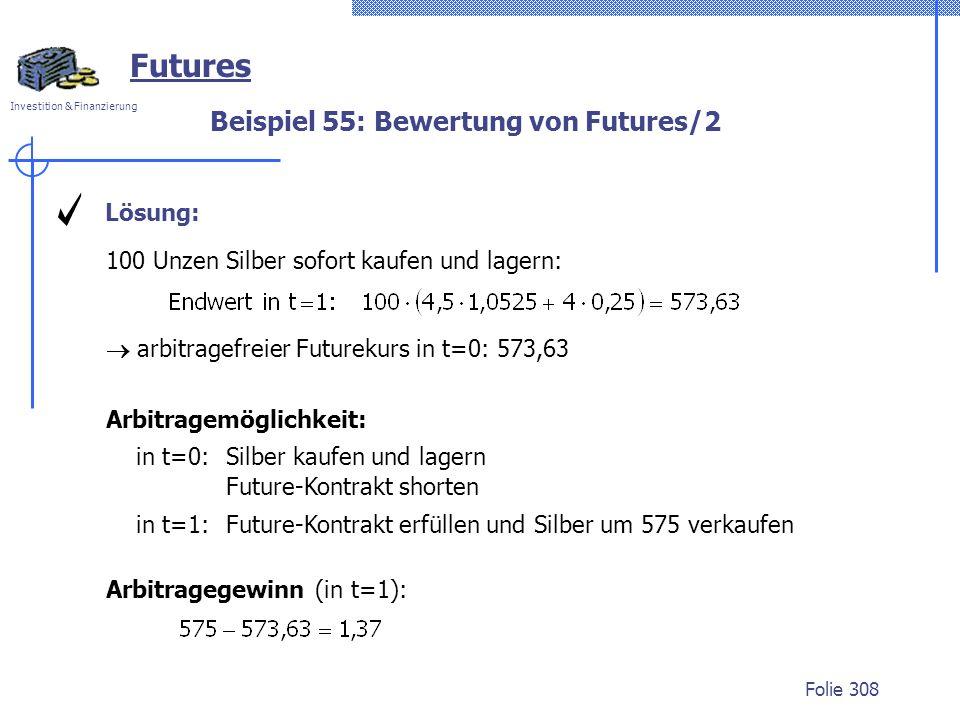 Beispiel 55: Bewertung von Futures/2