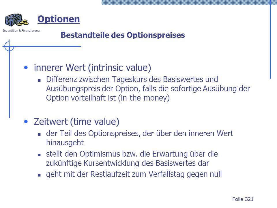 Bestandteile des Optionspreises