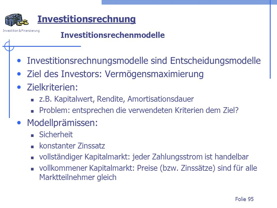 Investitionsrechenmodelle
