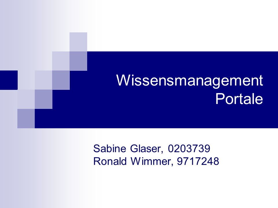 Wissensmanagement Portale