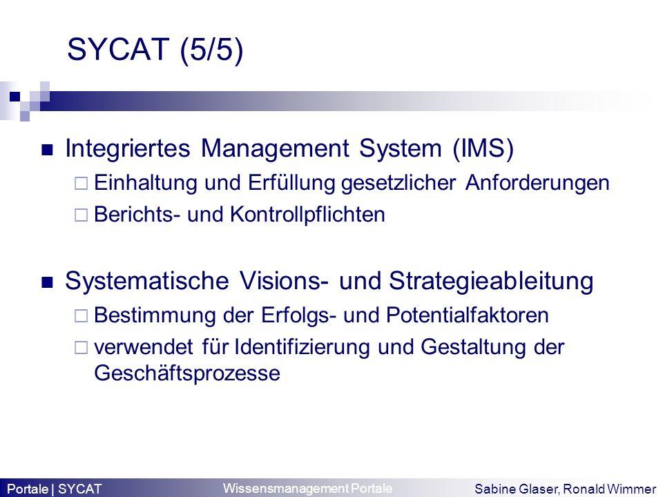 SYCAT (5/5) Integriertes Management System (IMS)