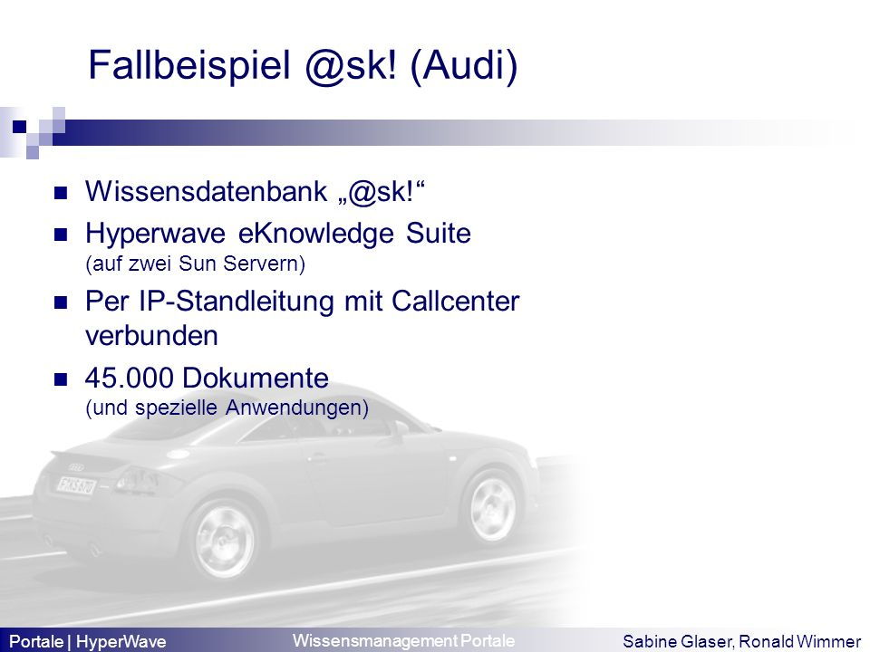 Fallbeispiel @sk! (Audi)