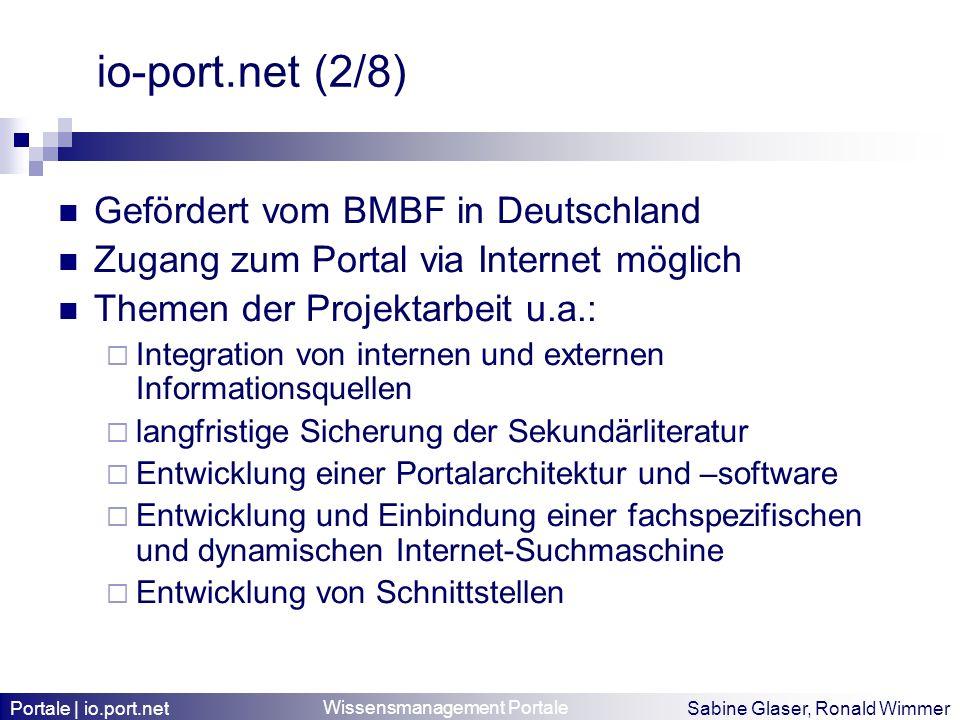 io-port.net (2/8) Gefördert vom BMBF in Deutschland