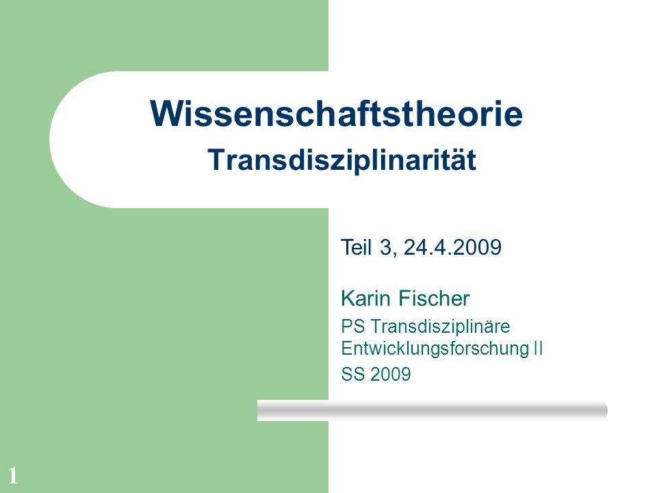 Wissenschaftstheorie Transdisziplinarität