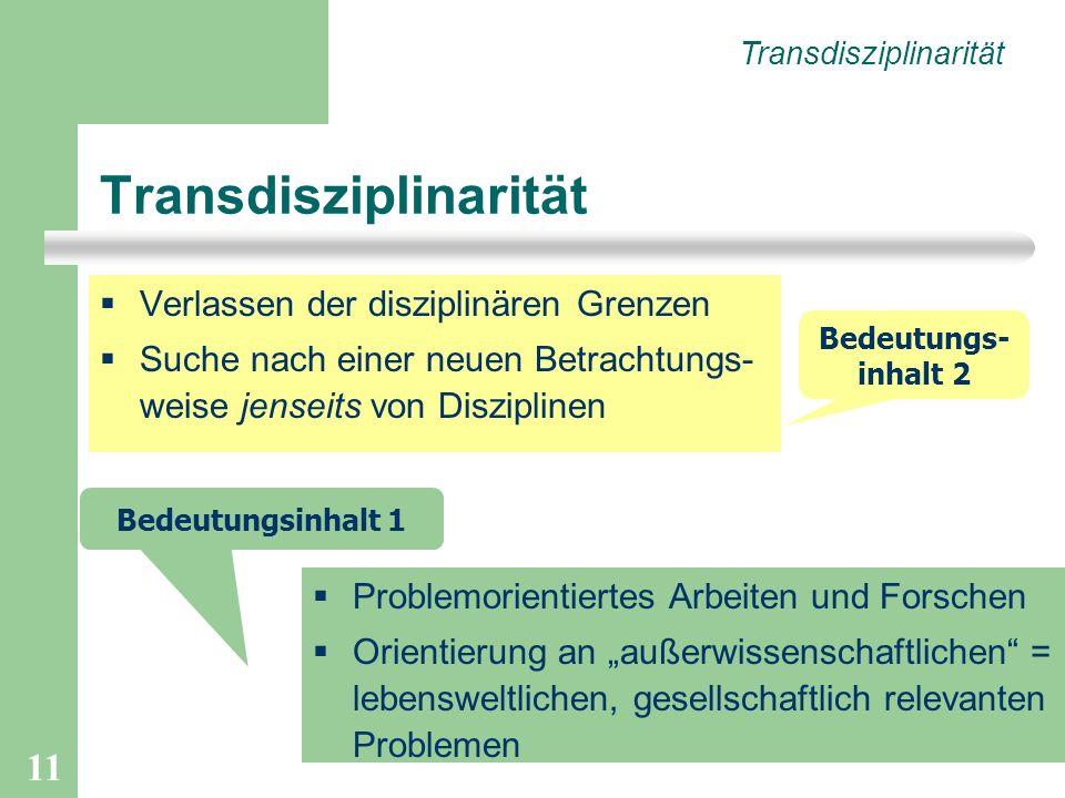 Transdisziplinarität