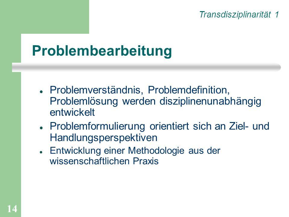 Transdisziplinarität 1