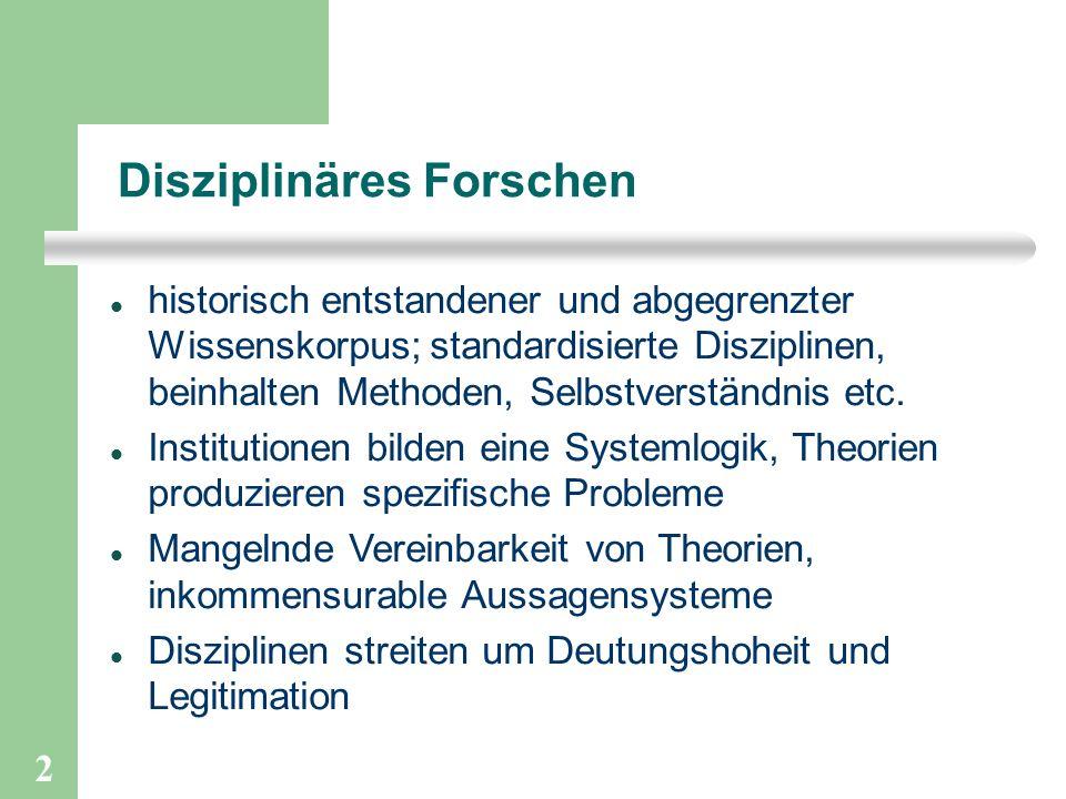 Disziplinäres Forschen