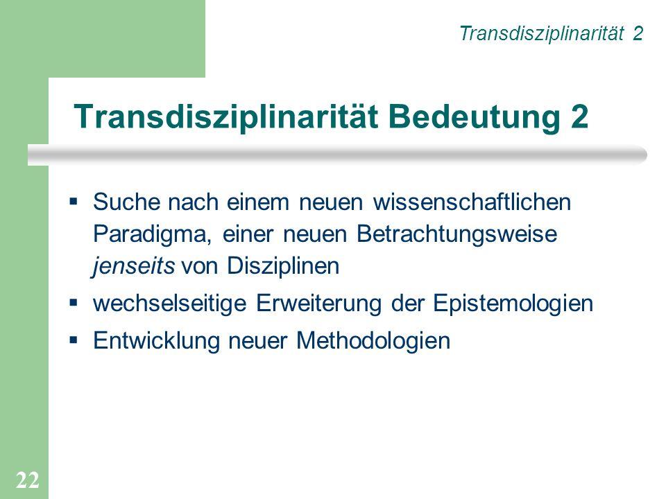 Transdisziplinarität Bedeutung 2