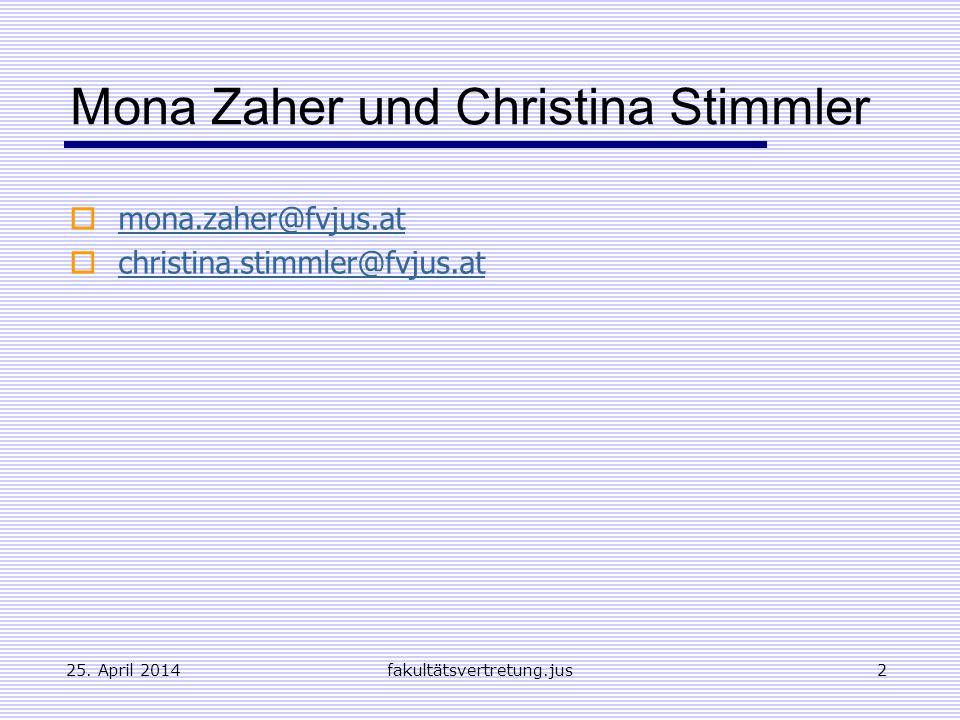 Mona Zaher und Christina Stimmler