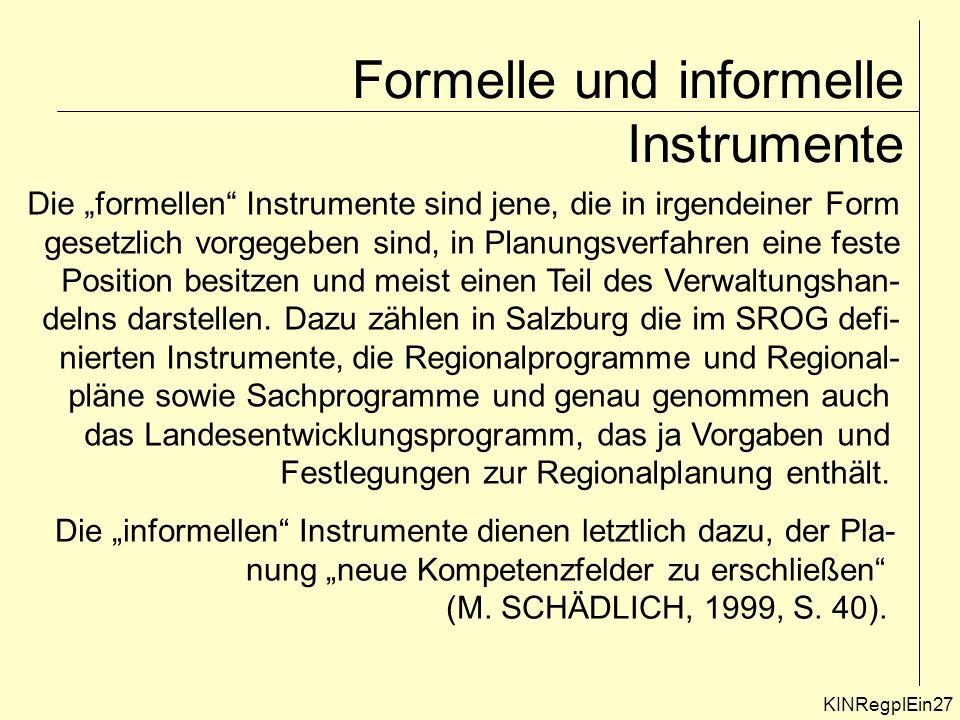 Formelle und informelle Instrumente