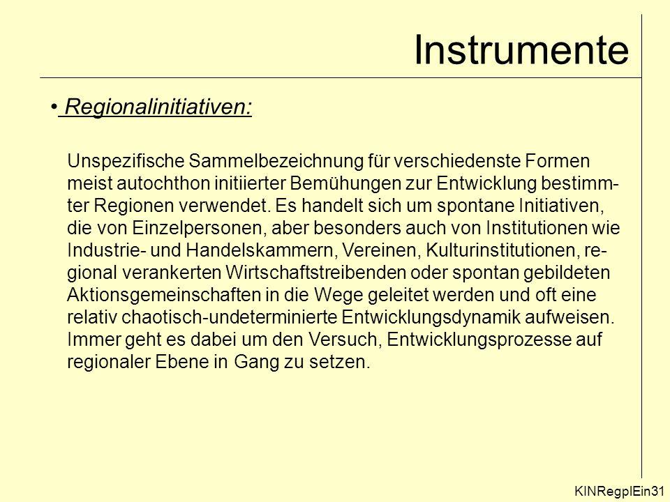 Instrumente Regionalinitiativen: