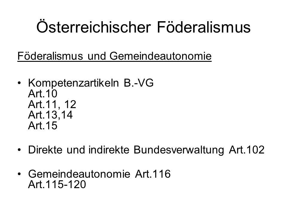 Österreichischer Föderalismus