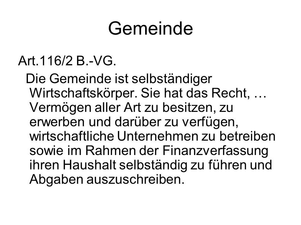 Gemeinde Art.116/2 B.-VG.