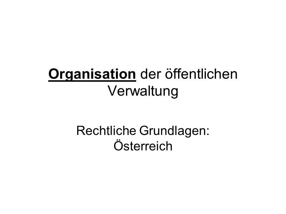 Organisation der öffentlichen Verwaltung