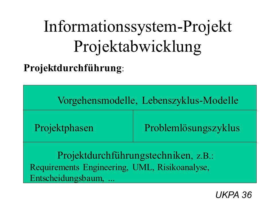 Informationssystem-Projekt Projektabwicklung