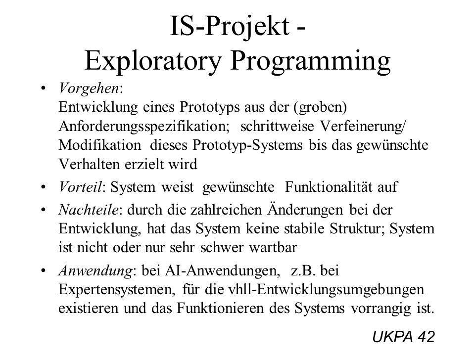 IS-Projekt - Exploratory Programming